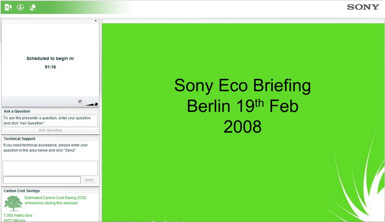 Sony Europe Eco Briefing