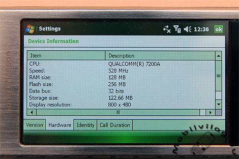 XPERIA X1 528MHz