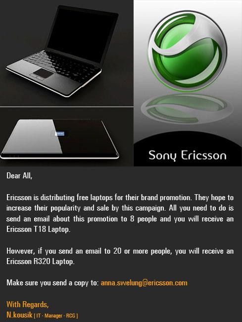 free ericsson laptop