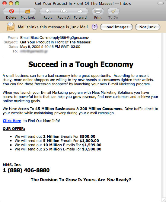 spam email lists