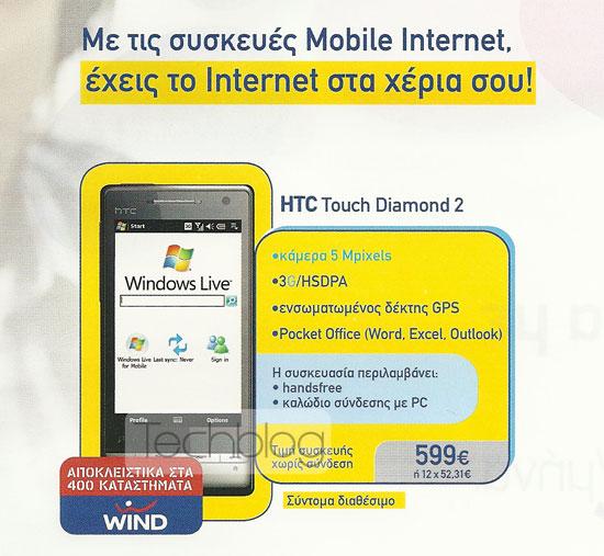 htc diamond2 wind
