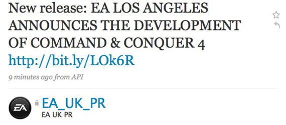 command and conquer 4 twitter leaked