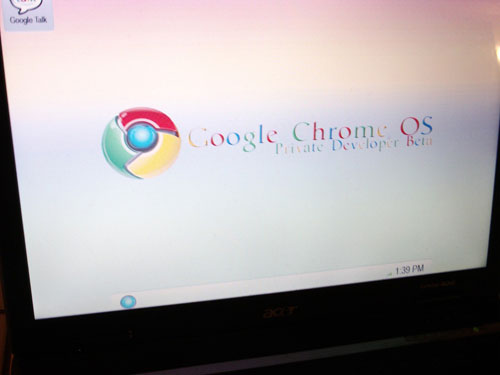 Google Chrome OS screenshot