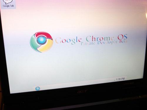 Google Chrome OS screenshot