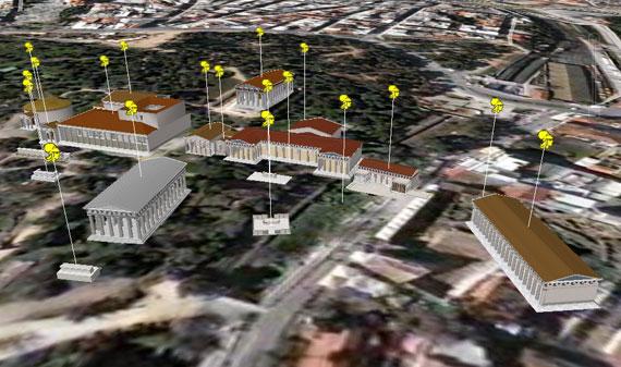 Google Earth Ancient Agora Athens