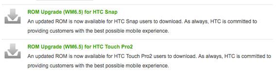HTC ROM upgrade WM6.5