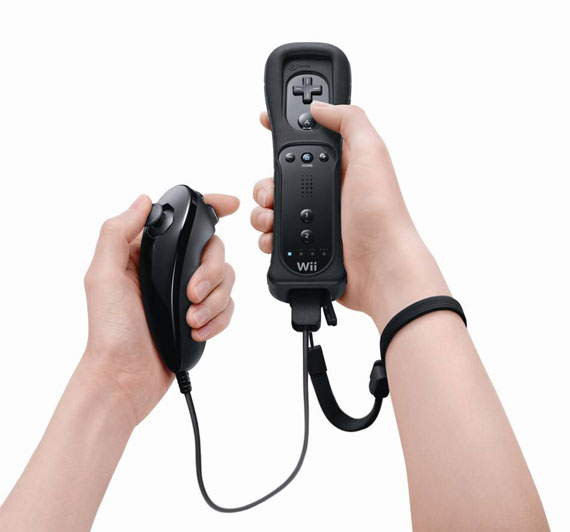 Nintendo wii black remote