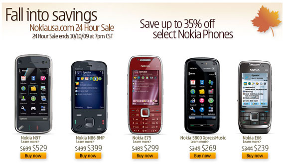 Nokia winter sales