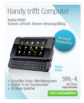 Nokia N900 Germany 599 euro