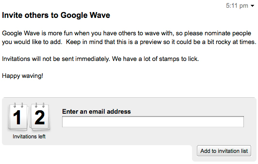 google wave invite others