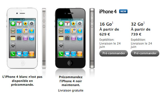 iPhone 4 France