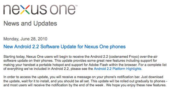 nexus one froyo 2.2
