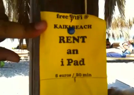Rent an iPad Kaiki beach