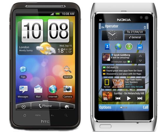 HTC Desire vs Nokia N8