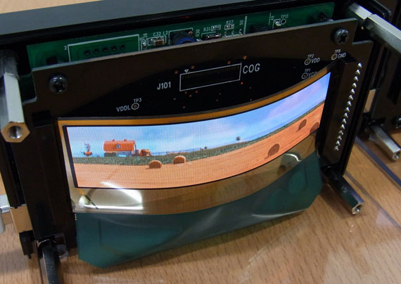 TDK flexible transparent oled display