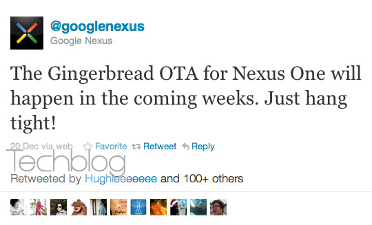 Google Nexus Android 2.3 Gingerbread