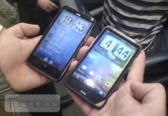 HTC HD7 vs Desire HD