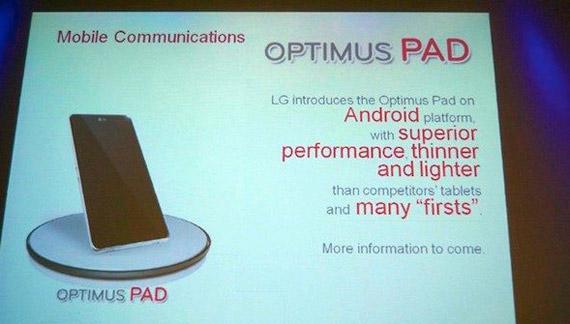 LG Optimus Pad Android