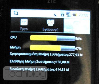 ZTE Blade 512MB RAM