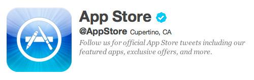 AppStore Twitter account