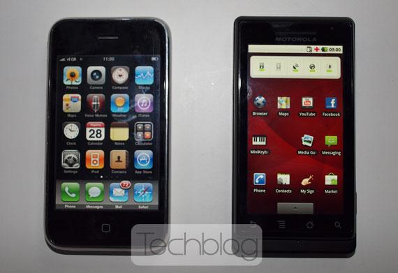 Motorola Milestone vs iPhone 3G