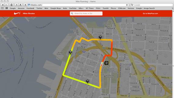 Nike plus GPS watch TomTom
