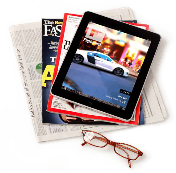 iPad magazine style