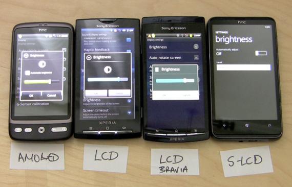 AMOLED vs LCD vs Bravia LCD vs S-LCD
