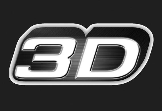 3D logo black