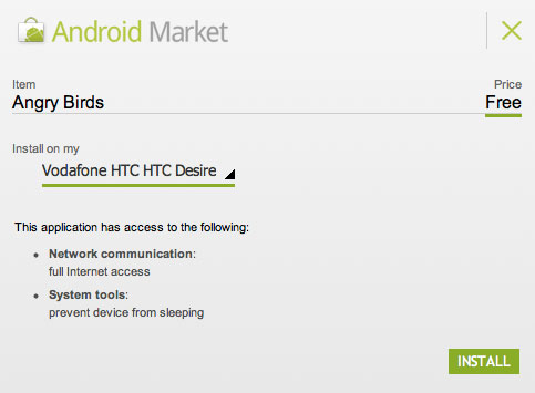 Android Market Browser