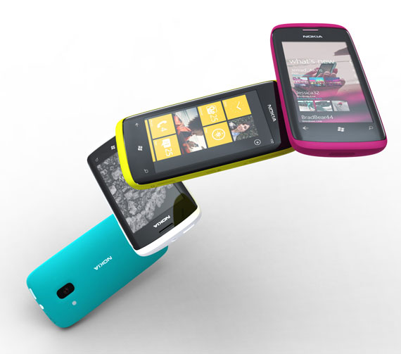 Nokia Windows Phone 7 concept smartphones