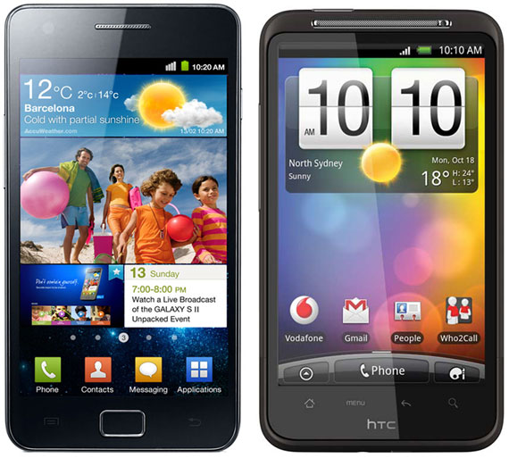 Samsung Galaxy S II vs HTC Desire HD