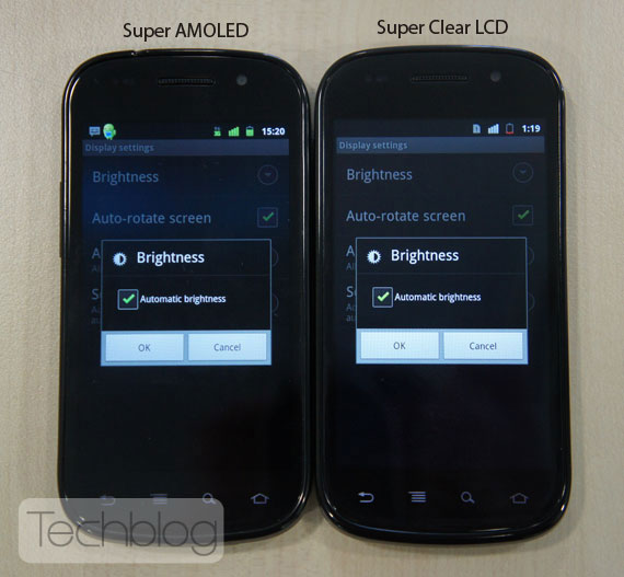 Nexus S Super Amoled vs Nexus Super Clear LCD