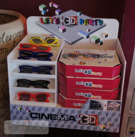 LG Cinema 3D TV glasses