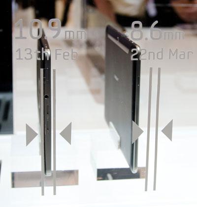 Samsung Galaxy Tab 10 size comparison