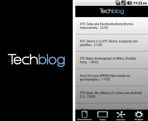 Techblog Android Application