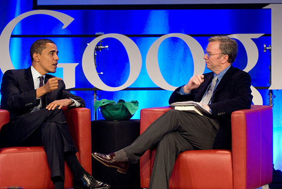 Obama Schmidt over Google