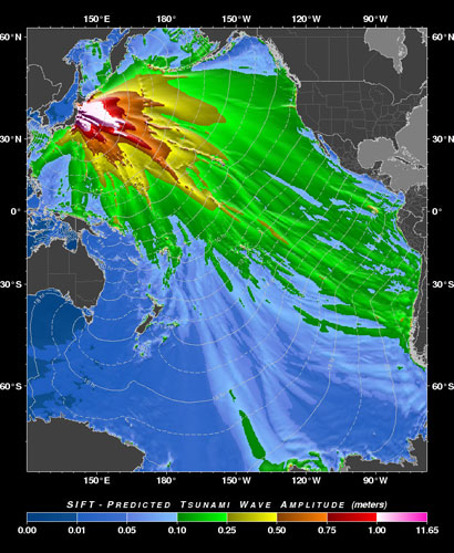 japan earthquake tsunami map