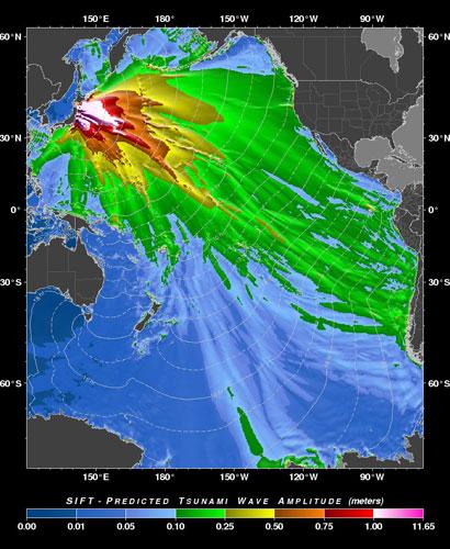japan earthquake tsunami map