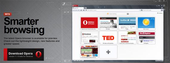 Opera Beta 11.10