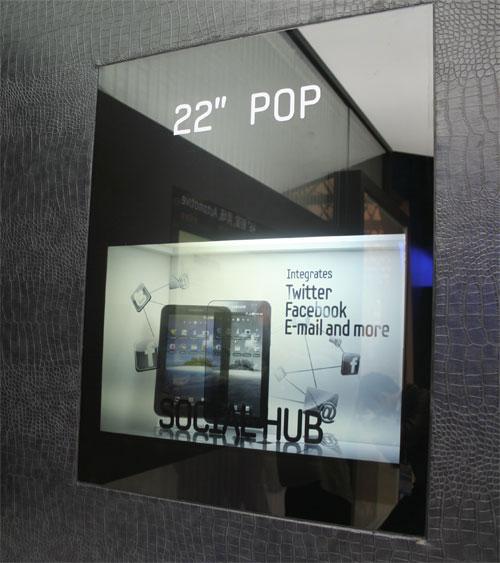 Samsung 22 transparent display