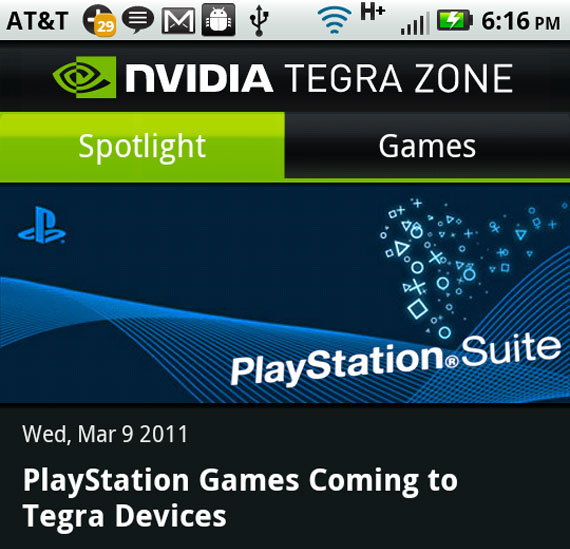 Sony NVIDIA PlayStation Suite