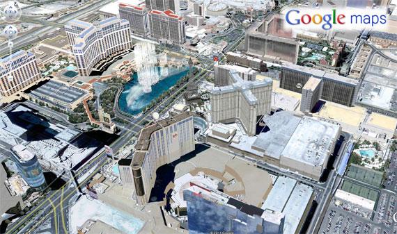 Google Maps Las Vegas 3D