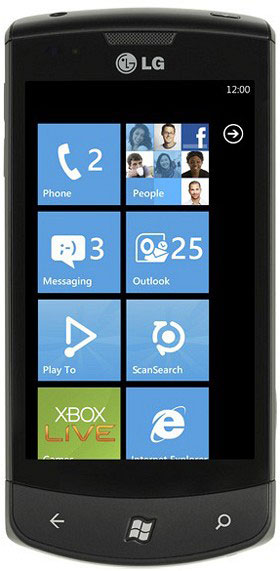 LG E700 Windows Phone 7 Mangro