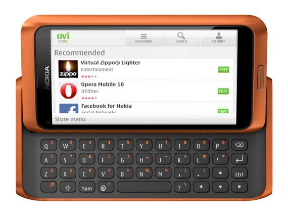 Nokia E7 Ovi Store