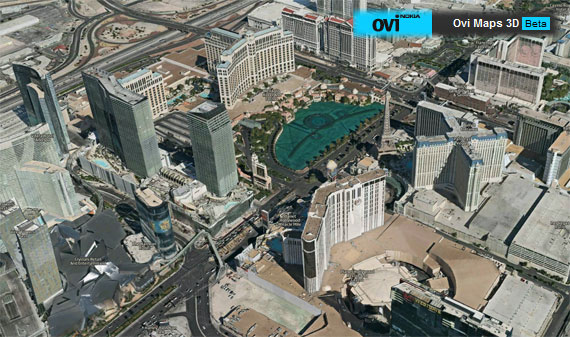 Ovi Maps Las Vegas 3D