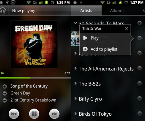 Android Market Test Music App 2