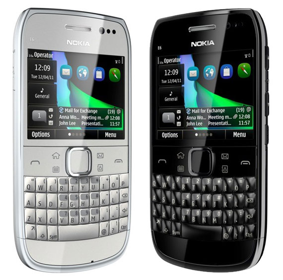 Nokia E6 black or white