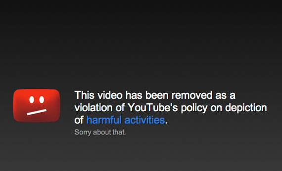 youtube removed video