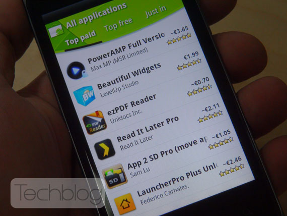 Android Market paid apps Greece